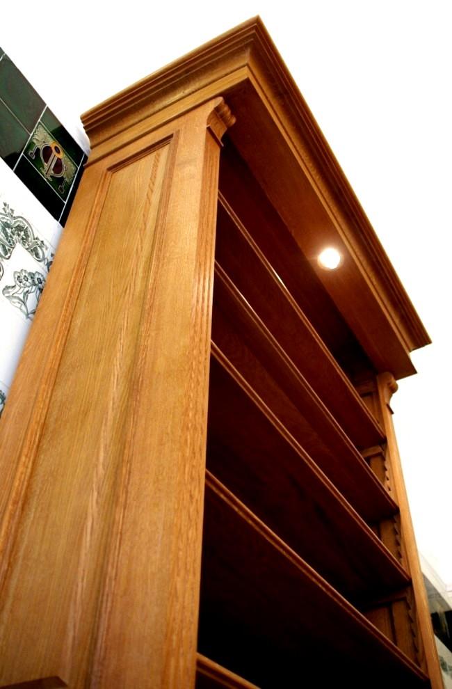 regal eiche massivholz mit beleuchtung 250x100x35cm ebay. Black Bedroom Furniture Sets. Home Design Ideas