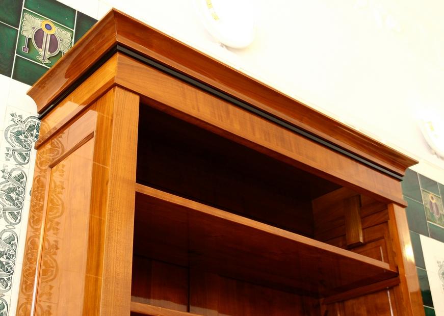 b cherregal kirsche mit t ren massivholz 240x100x45cm. Black Bedroom Furniture Sets. Home Design Ideas