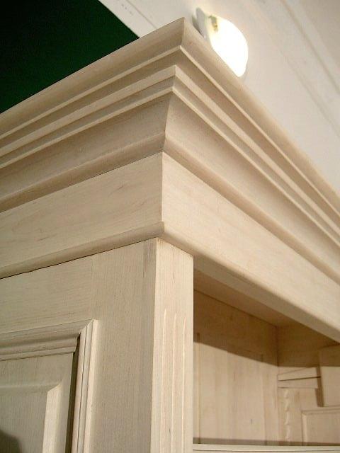 b cherregal wei lasiert massivholz 220x100x35cm ebay. Black Bedroom Furniture Sets. Home Design Ideas