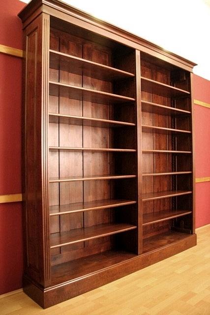 regal massiv holz erle im nussbaumton 230x200x35cm ebay. Black Bedroom Furniture Sets. Home Design Ideas