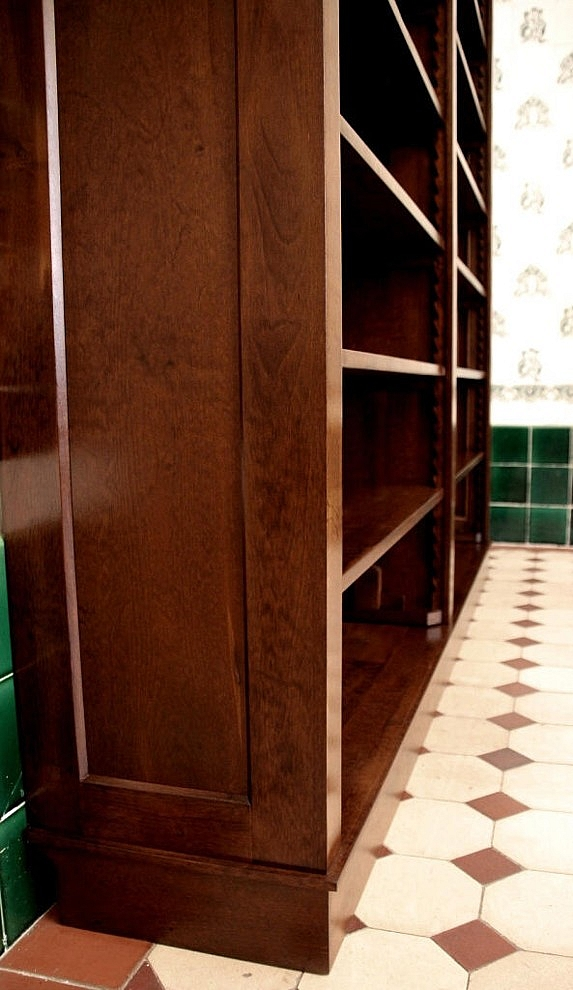 b cherregal modernes design massiv erle 250x200x35cm ebay. Black Bedroom Furniture Sets. Home Design Ideas