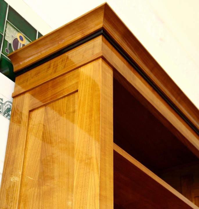 b cherregal kirsche im biedermeierstil ausstellungsst ck. Black Bedroom Furniture Sets. Home Design Ideas