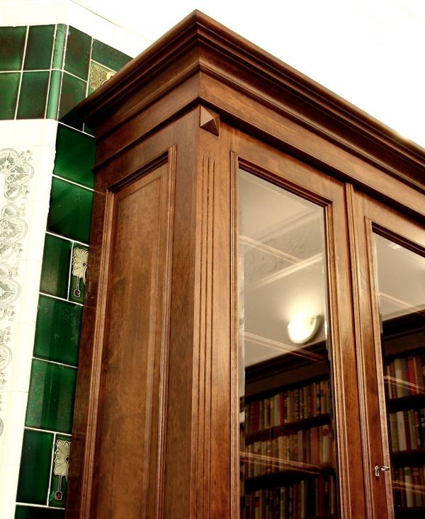 b cherschrank massivholz im nussbaumton mit glast ren 250x200x45cm ebay. Black Bedroom Furniture Sets. Home Design Ideas