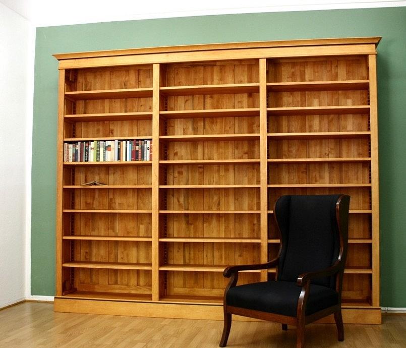 b cherregal massivholz im biedermeierstil 250x300x35cm. Black Bedroom Furniture Sets. Home Design Ideas