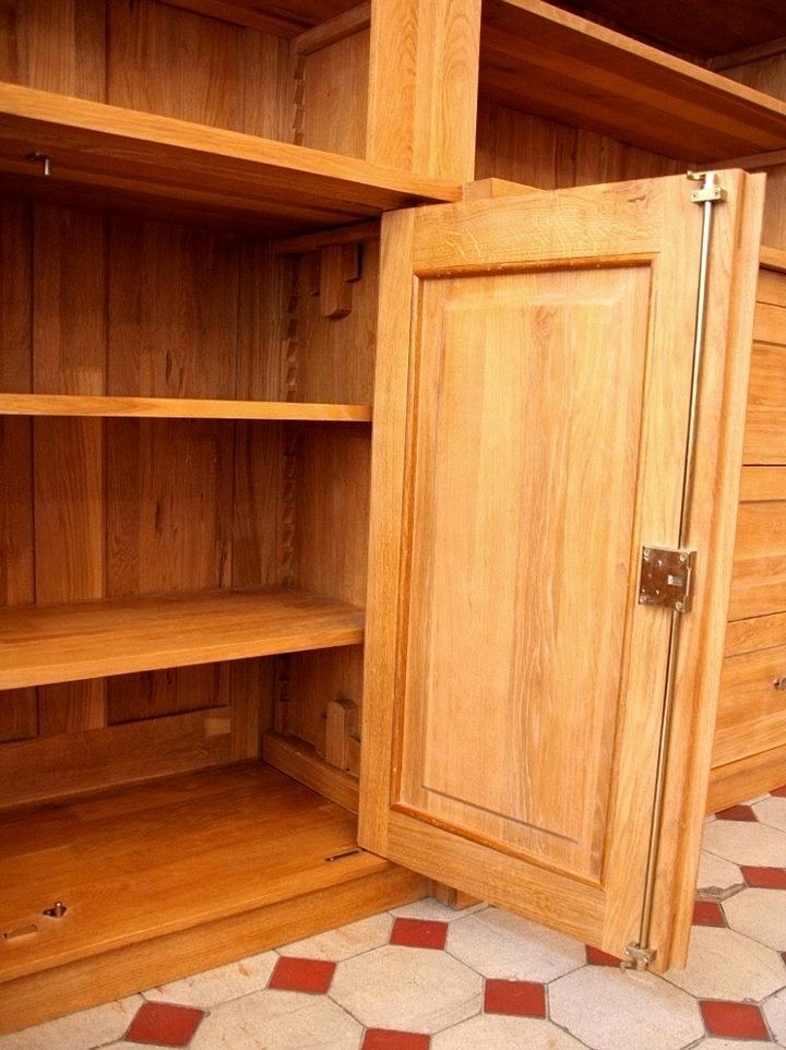 b cherregal massiv holz eiche mit t ren 240x300x45cm ebay. Black Bedroom Furniture Sets. Home Design Ideas