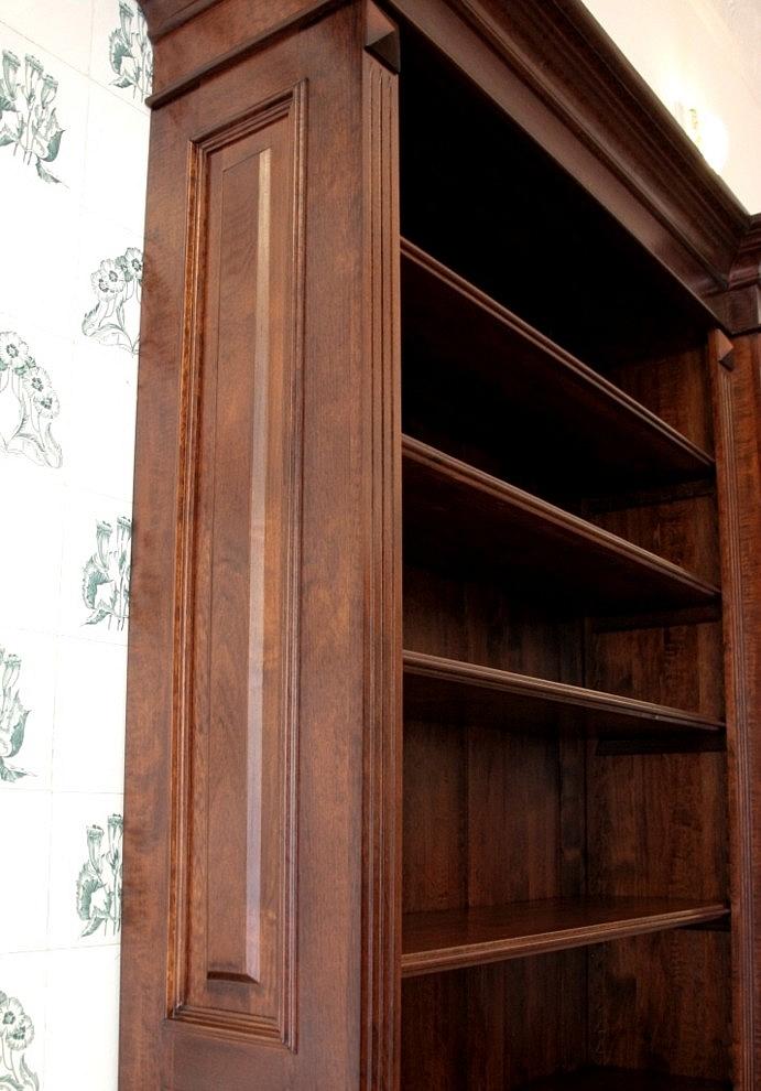 b cherregal massiv holz erle nussbaumton 230x290x35cm ebay. Black Bedroom Furniture Sets. Home Design Ideas