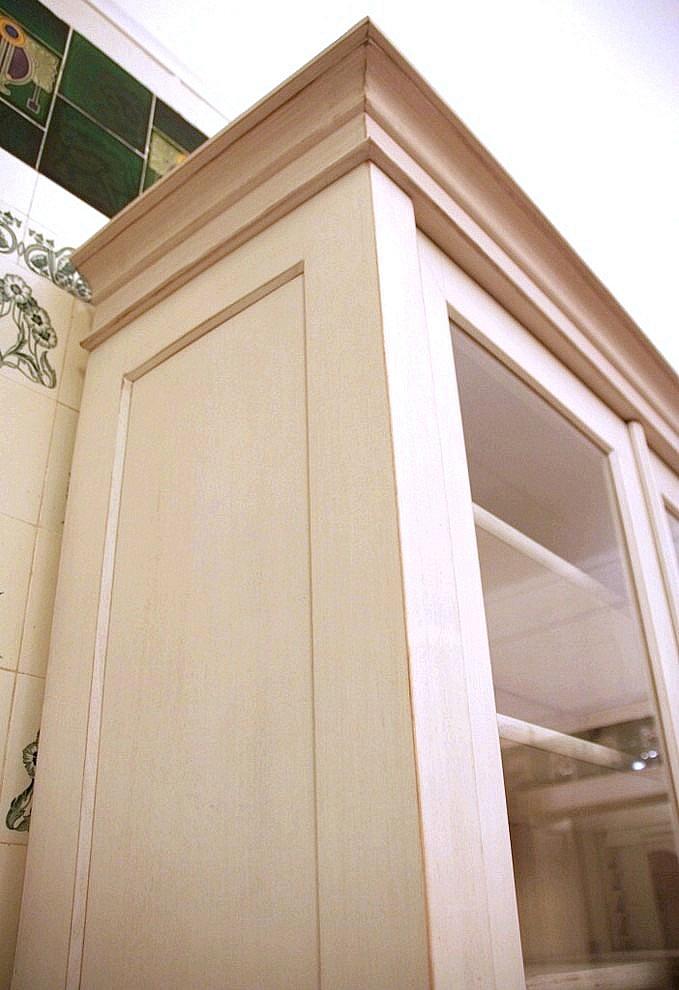 b cherschrank wei shabby chic massivholz 230x320x45cm ebay. Black Bedroom Furniture Sets. Home Design Ideas