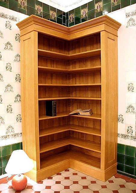 eckregal erle naturton massivholz 220x110x35cm ebay. Black Bedroom Furniture Sets. Home Design Ideas