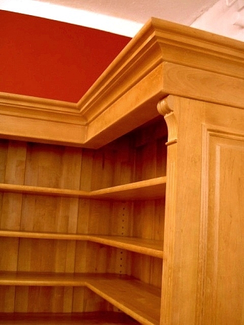 eckregal erle massivholz im gr nderzeitstil 220x110x35cm ebay. Black Bedroom Furniture Sets. Home Design Ideas