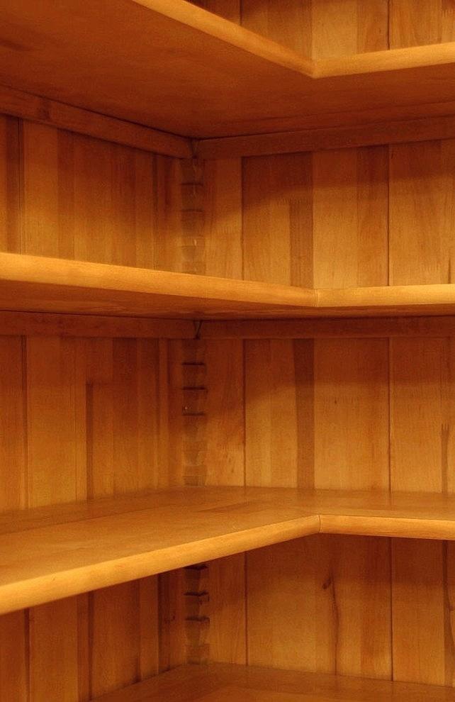 eckregal erle massivholz im gr nderzeitstil 220x110x35cm. Black Bedroom Furniture Sets. Home Design Ideas