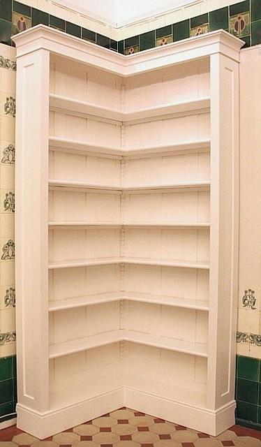 eckregal wei lasiert massivholz erle 250x100x25cm ebay. Black Bedroom Furniture Sets. Home Design Ideas