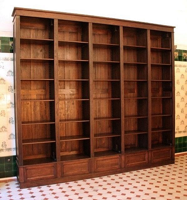 b cherwand eiche massivholz mit leiter 300x350x35cm ebay. Black Bedroom Furniture Sets. Home Design Ideas