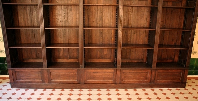 b cherwand eiche massivholz mit leiter 300x350x35cm. Black Bedroom Furniture Sets. Home Design Ideas