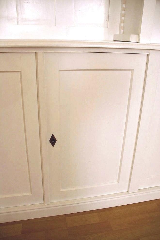 regalwand wei massiv erle mit t ren hbt 250x400x40cm ebay. Black Bedroom Furniture Sets. Home Design Ideas