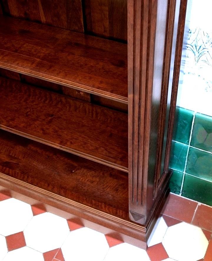 b cherwand massivholz erle farbe nussbaum 270x400x35cm ebay. Black Bedroom Furniture Sets. Home Design Ideas